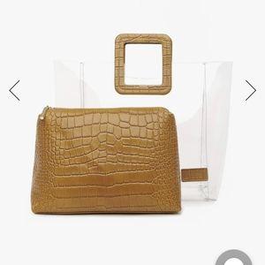 Staud Shirley Croc Embossed 2 Piece PVS Bag
